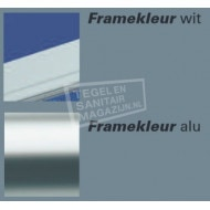 Plieger Economy (90x90x185 cm) douchecabine vierkant Wit 2,2 mm