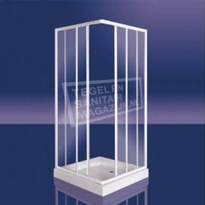 Plieger Class (90x90x185 cm) douchecabine vierkant Wit 3 mm montage universeel