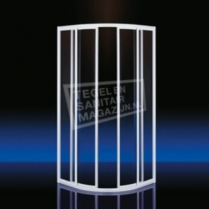 Plieger Class (90x90x185 cm) douchecabine kwartrond Aluminium 3 mm montage universeel