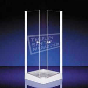 Plieger Royal (90x90x185 cm) douchecabine vierkant Chroom 6 mm montage universeel