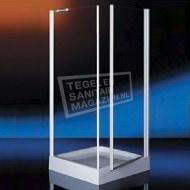 Plieger Royal (90x90x185 cm) douchecabine vierkant 1 draaideur Chroom 6 mm montage universeel