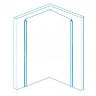 Aqualux Aqua 4 (76x76x185 cm) douchecabine vierkant Wit 4 mm montage universeel