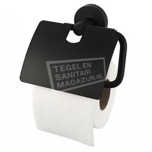 Kosmos zwart toiletrolhouder