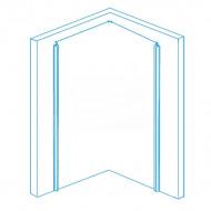 Wiesbaden Kreuz (90x90x200 cm) douchecabine kwartrond 8 mm montage links NANO Anti-kalkbehandeling