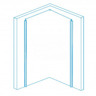 Gradara Lago (80x100x200 cm) douchecabine rechthoek 1 draaideur 8 mm NANO Anti-kalkbehandeling