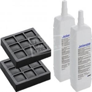 Geberit AquaClean set van 2 koolfilters en 2 douchearm reinigingsmiddelen v. 8000/8000 plus