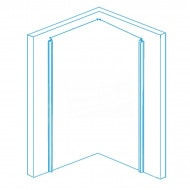 Aqualux Aqua 8 Bifold (80x76x200 cm) Douchecabine Rechthoek Vouwdeur Chroom 8 mm Dik Helder Glas