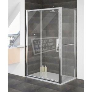 Aqualux Aqua 8 Glide (120x76x200 cm) Douchecabine Rechthoek Schuifdeur Chroom 8 mm Dik Helder Glas