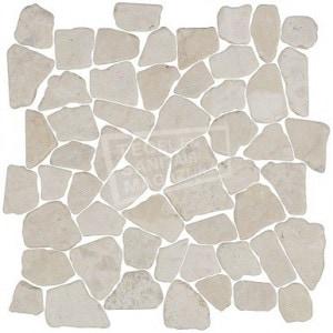 White Flat Pebbels per m²