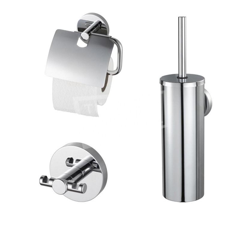 AQLU combiset bad-toilet access Pro 2000, messing, chroom, toilet