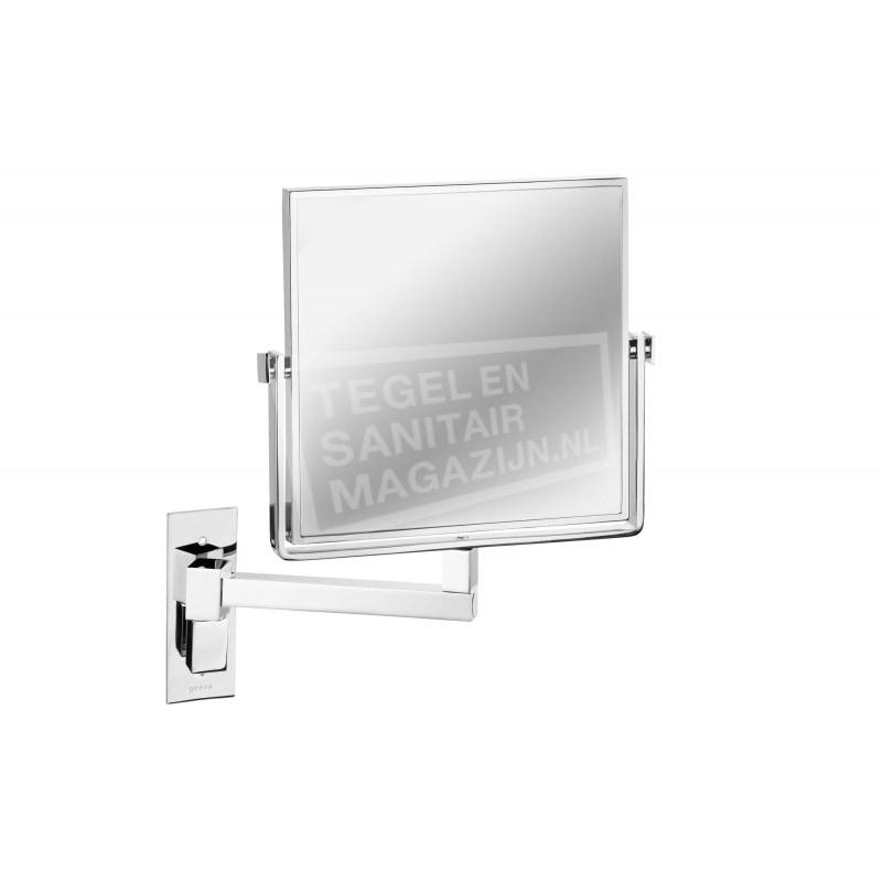 Geesa Mirror Scheerspiegel, 1 arm, normaal+3x vergr., 190x190 mm (1080)