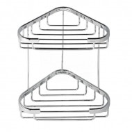 Geesa Basket Fles- en sponshouder, hoekmodel, dubbel