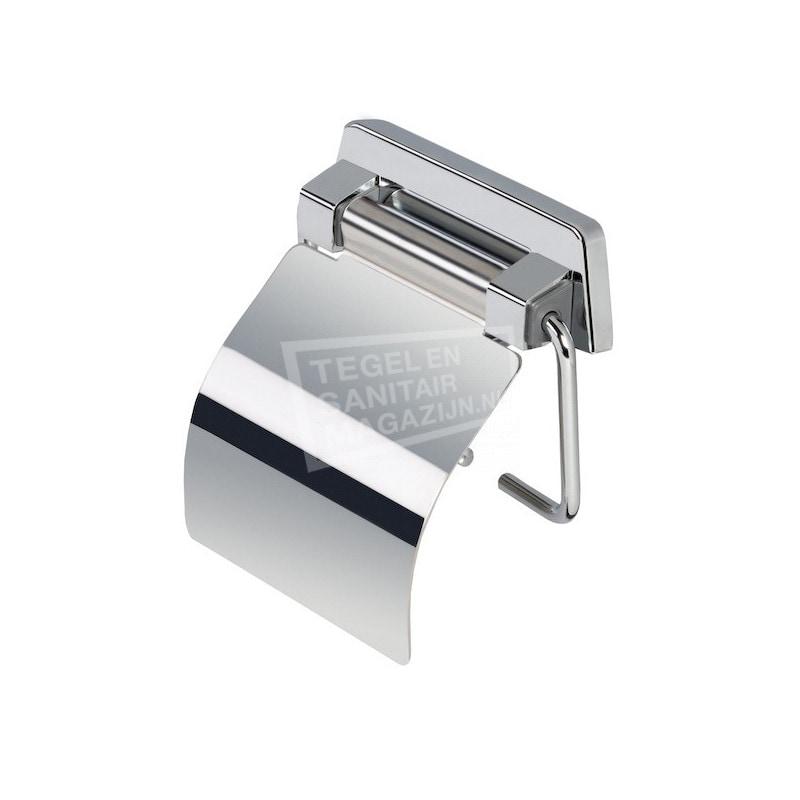 Geesa Standard Toiletrolhouder met veer en glanzende rvs klep