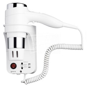 Geesa Hairdryer Haardroger 1600W, 3 snelh., scheerstopcontact, wit (6476)