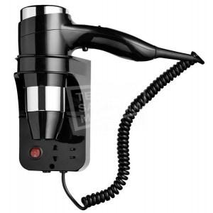 Geesa Hairdryer Haardroger 1600W, 3 snelh., scheerstopcontact, zwart (6478)