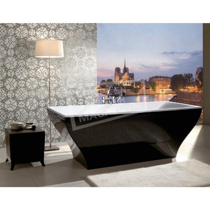 Villeroy & Boch La Belle Bad Quaryl 180x80 cm Incl. Paneel Frame & Afvoer Wit Graphite Noir
