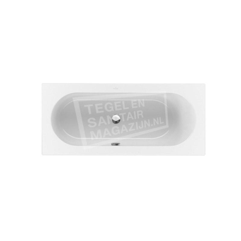 Villeroy & Boch Loop & Friends Oval Bad Acryl Rechthoek 160x70 cm met Ovale Binnenvorm Wit