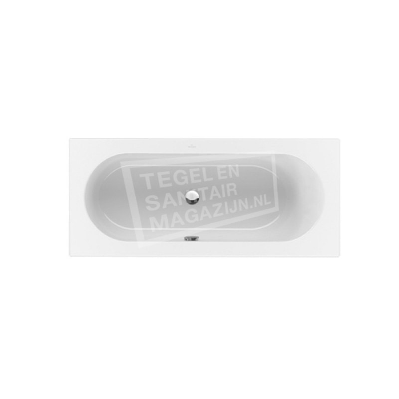 Villeroy & Boch Loop & Friends Oval Duobad Rechthoek 190x90 cm met Ovale Binnenvorm Wit