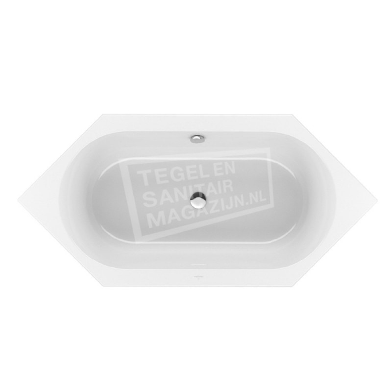 Villeroy & Boch Loop & Friends Oval Duobad Zeshoekig 205x90 cm met Ovale Binnenvorm Wit