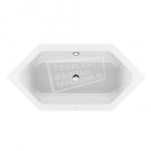 Villeroy & Boch Loop & Friends Square Duobad Zeshoekig 190x90 cm met Hoekige Binnenvorm Wit