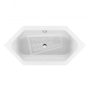 Villeroy & Boch Loop & Friends Square Duobad Zeshoekig 205x90 cm met Hoekige Binnenvorm Wit