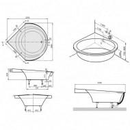 Villeroy & Boch Luxxus Kunststof Hoekbad Quaryl Inbouw 190x190 cm Wit