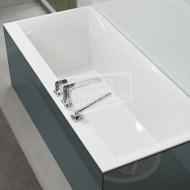 Villeroy & Boch Squaro Edge 12 Kunststof Bad Quaryl Rechthoek 160x75x45 cm Incl. Poten & Afvoer /Overloopcombinatie Wit