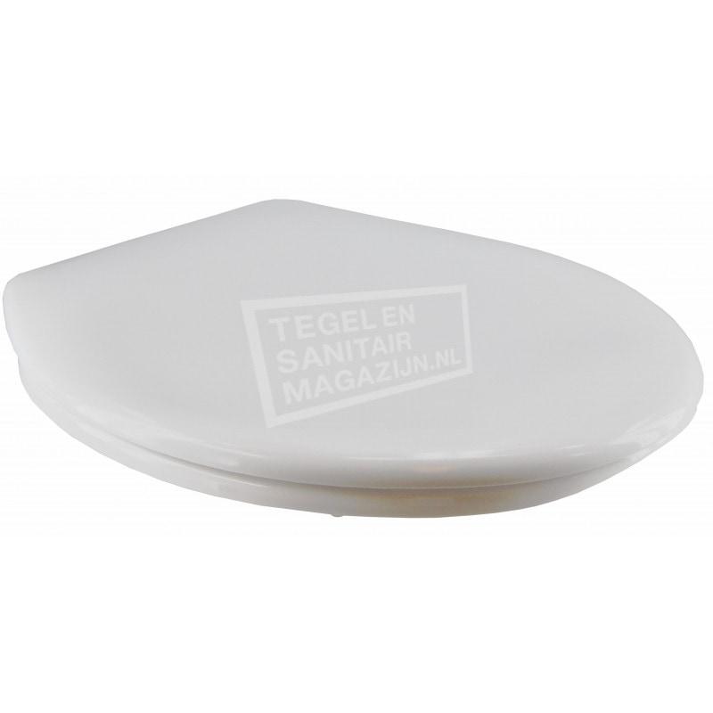 Toiletzitting wit met deksel