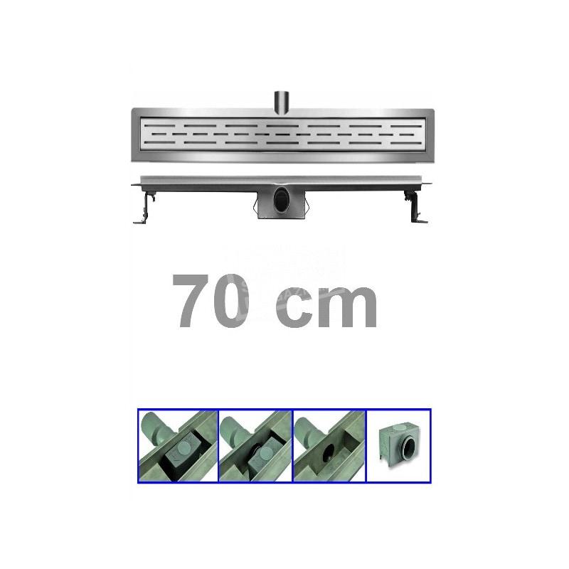 Bibury 3e Generatie 70 cm RVS met flens en rooster