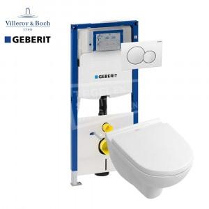 Villeroy & Boch O.novo toiletset met Geberit UP320 en Sigma01 bedieningspaneel