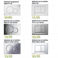 Villeroy & Boch O.novo direct flush toiletset met Geberit UP320 en Sigma01 bedieningspaneel