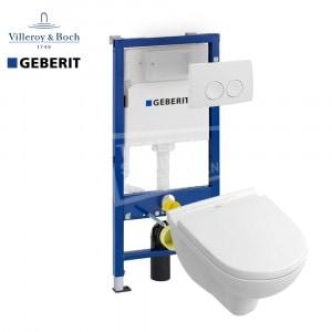 Villeroy & Boch O.novo toiletset met Geberit UP100 en Delta21 bedieningspaneel