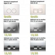 Plieger Compact toiletset met Geberit UP100 en Delta21 bedieningspaneel