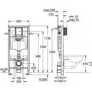 Villeroy & Boch O.novo Compact toiletset met Grohe Rapid SL en Grohe Skate Cosmopolitan bedieningspaneel