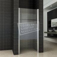 Wiesbaden Bernd Draaideur met profiel (90x200 cm) Rechts Aluminium 8 mm Gematteerd Glas