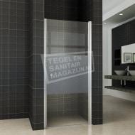 Wiesbaden Bernd Draaideur met profiel (100x200 cm) Rechts Aluminium 8 mm Gematteerd Glas