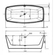 Vrijstaand Beterbad Moniek (155x80x57cm) Duobad 200L Acryl Wit