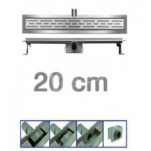 Bibury 3e Generatie 20 cm RVS met flens en rooster
