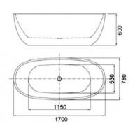 Best Design bad Moderna (170x78x60cm) incl. overloopcombi en click-waste