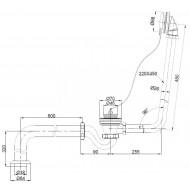 Best Design Double-Ended-Slip Nostalgisch Bad (175x72x79cm) Incl. poten chr. (Crow feets)