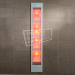 Sunshower Deluxe White UV- en Infrarood Inbouw 32x187x16cm Full Body 2000W Aluminium