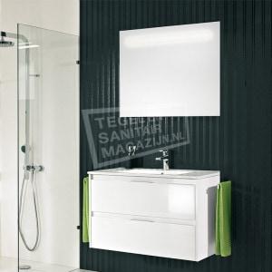 Pelipal Calypsos badmeubelset 90cm hoogglans wit met spiegel incl. geïntegreerde LED-verlichting