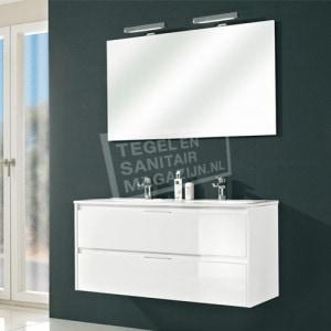 Pelipal Calypsos badmeubelset 120cm hoogglans wit met spiegel incl. opbouw LED-verlichting