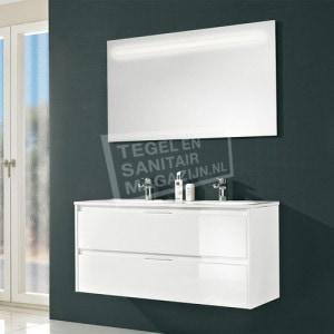 Pelipal Calypsos badmeubelset 120cm hoogglans wit met spiegel incl.  geïntegreerde LED-verlichting