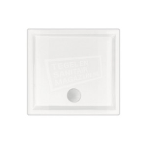 Beterbad Mariana (100x100x4 cm) douchebak Vierkant Wit
