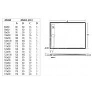 Beterbad Easy Tray (150x90x5 cm) douchebak Rechthoek Wit Gootcover RVS Mat