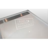 Beterbad Easy Tray (100x100x5 cm) douchebak Vierkant Wit Gootcover RVS Mat