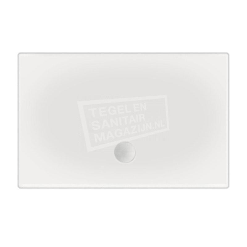 Beterbad Flat (100x80x3,5 cm) douchebak Rechthoek Wit