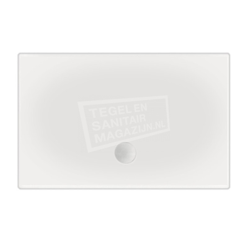 Beterbad Flat (120x80x3,5 cm) douchebak Rechthoek Wit