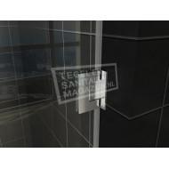 Wiesbaden Kreuz Nisdeur zonder profiel (100x200 cm) 8 mm NANO Anti-kalk